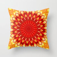be happy Throw Pillows featuring HAPPY by Teresa Chipperfield Studios