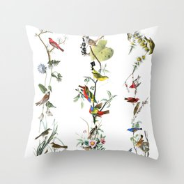 Birds - Art - Vintage - Pattern - Illustration - Nature Throw Pillow