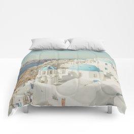 Santorini in Greece Comforters