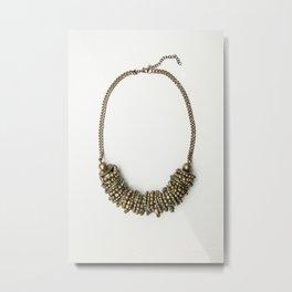 Mongolian gold necklace Metal Print