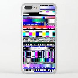 Glitch Ver.1 Clear iPhone Case