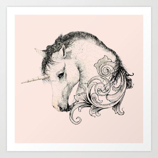 Classic Unicorn Art Print