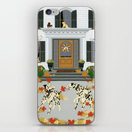 Autumn leaf game iPhone Skin