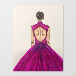 Pink Tulle (Zoomed) Canvas Print