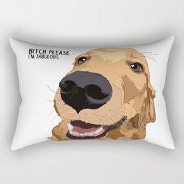 Bitch Please. I'm Fabulous. Golden Retriever Dog. Rectangular Pillow