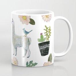 Llama and Luna Moth Coffee Mug