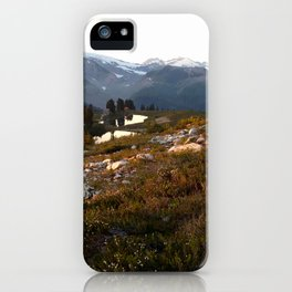 Elfin lake twilight iPhone Case