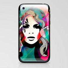 colorful hair iPhone & iPod Skin