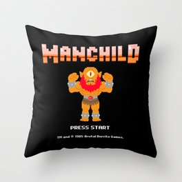 8Bit Manchild Throw Pillow