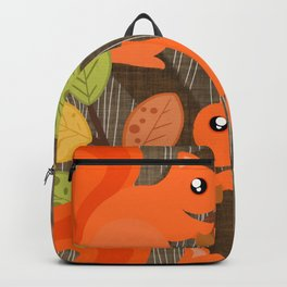 Three Squirrels In A Tree Backpack