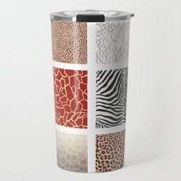 Africa - background with text and texture wild animal Travel Mug