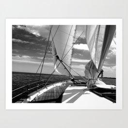 Details on Sailboat Art Print