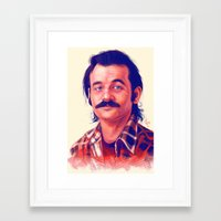 bill Framed Art Prints featuring Young Mr. Bill Murray by Thubakabra
