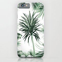 Tropical Summer Vibes Leaves Mix #2 #tropical #decor #art #society6 iPhone Case