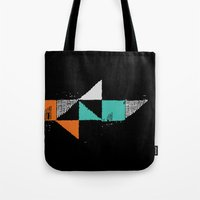 shark Tote Bags featuring Shark by Last Call