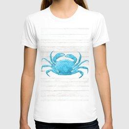 Nautical Blue Crab Driftwood Dock T-shirt