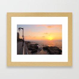 Sunset over Beirut Framed Art Print