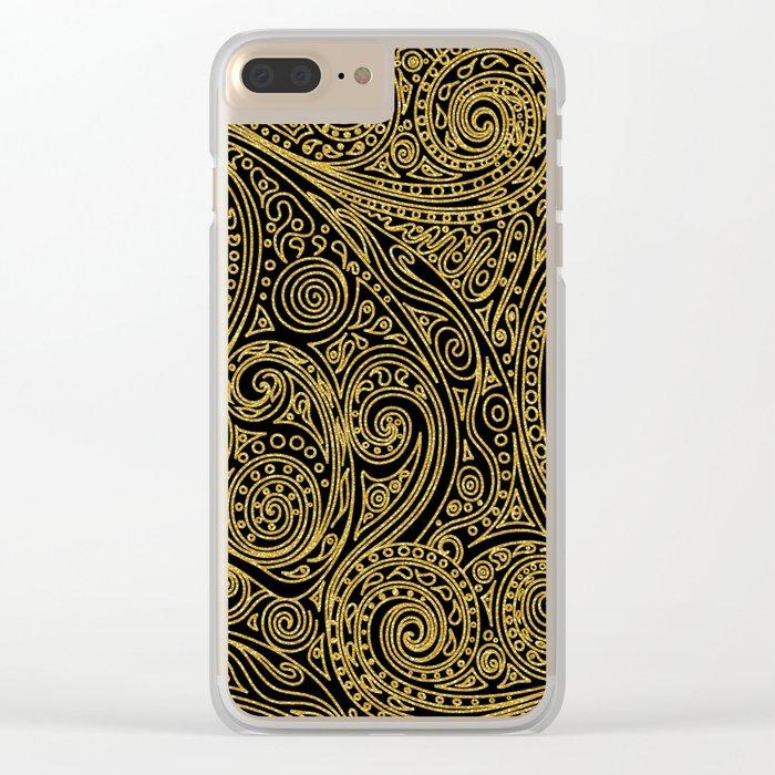 Golden spiral pattern Clear iPhone Case
