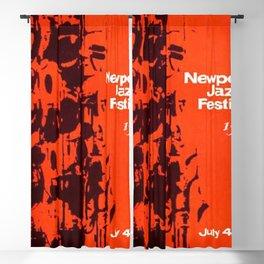 1963 Newport Jazz Festival Vintage Advertisement Poster Newport, Rhode Island Blackout Curtain