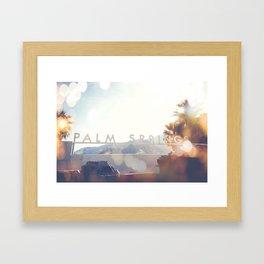 Palm Springs Bokeh Framed Art Print