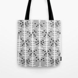 Helo - modern pattern design gift for college dorm decor trendy monochromatic grey neutral bold Tote Bag