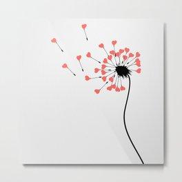 Love dandelion Metal Print