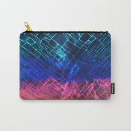Rainbow neon light Cracked out Glass pattern iPhone, ipod, ipad, pillow case and tshirt Carry-All Pouch