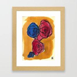 Four Little Roses Framed Art Print