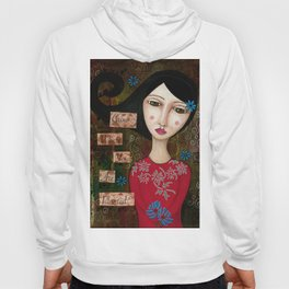 Grow Where You Are Planted mixed media art Hoody