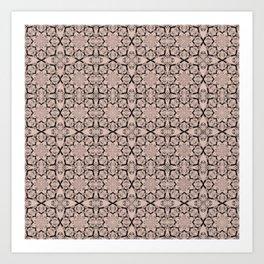 Pale Dogwood Geometric Art Print