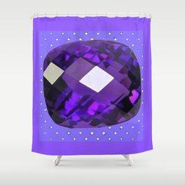 LILAC PURPLE AMETHYST FACETED GEM BIRTHSTONE ART Shower Curtain