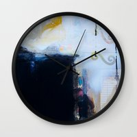 brand new Wall Clocks featuring Brand New Day by Natalie Baca