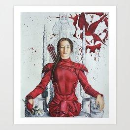 "Katniss Everdeen Mockingjay Part 2 ""I Kill Snow"" | Drawing Art Print"