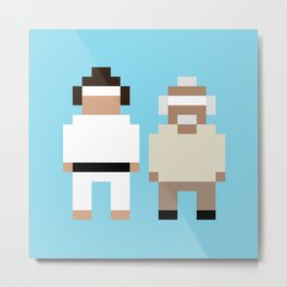 The Karate Kid and Mr Miyagi Metal Print