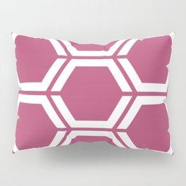 Irresistible - violet - Geometric Polygon Pattern Pillow Sham