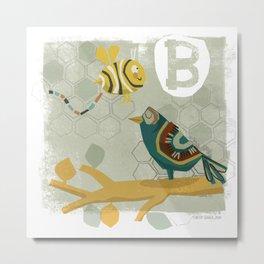 """B"" Metal Print"