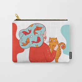 Girl with fish hair Carry-All Pouch