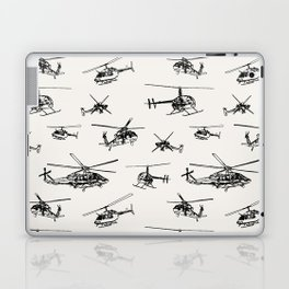 Helicopters on Linen White Laptop & iPad Skin