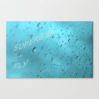 supergirl Canvas Prints featuring Supergirl by Armine Nersisian