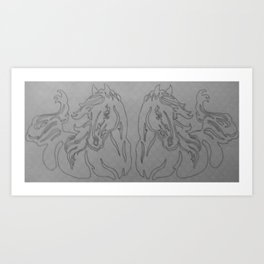 Mirrored Contour Art Print