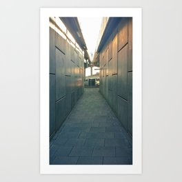 Concrete Corridor Art Print