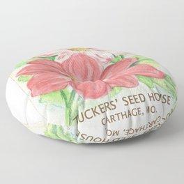 Dahlia Seed Packet Floor Pillow