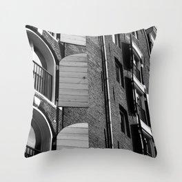 Window Shutter Textures Throw Pillow