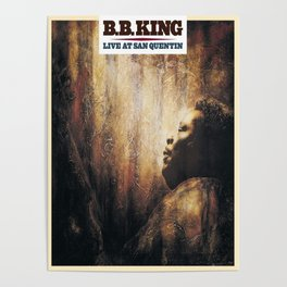 BB King Live At San Quentin CD Cover Poster