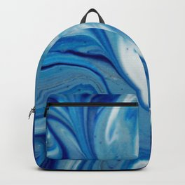 Ebb & Flow - Abstract Acrylic Art by Fluid Nature Backpack