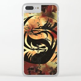 Yin and Yang Dragons Artwork Clear iPhone Case