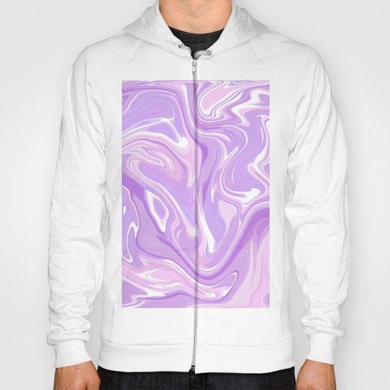 Blend of Pink Purple Velvet Violet Color Marble Hoody