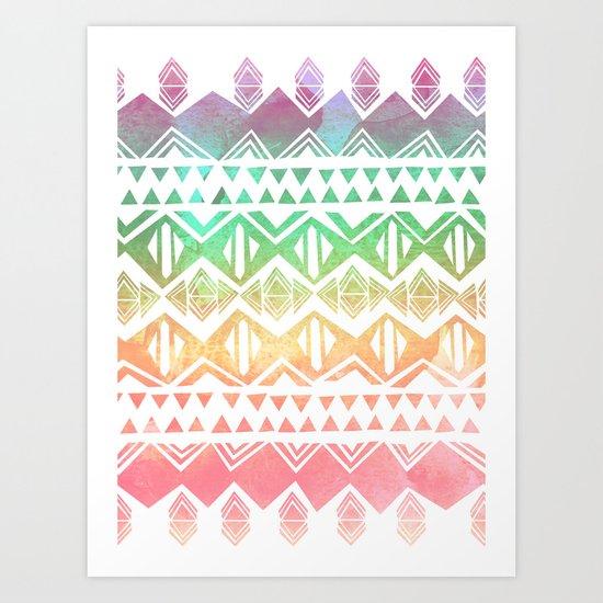 Tribal Sunrise Art Print