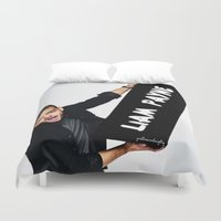 liam payne Duvet Covers featuring Liam Payne by girllarriealmighty
