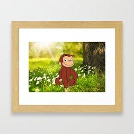 Curious George Framed Art Print